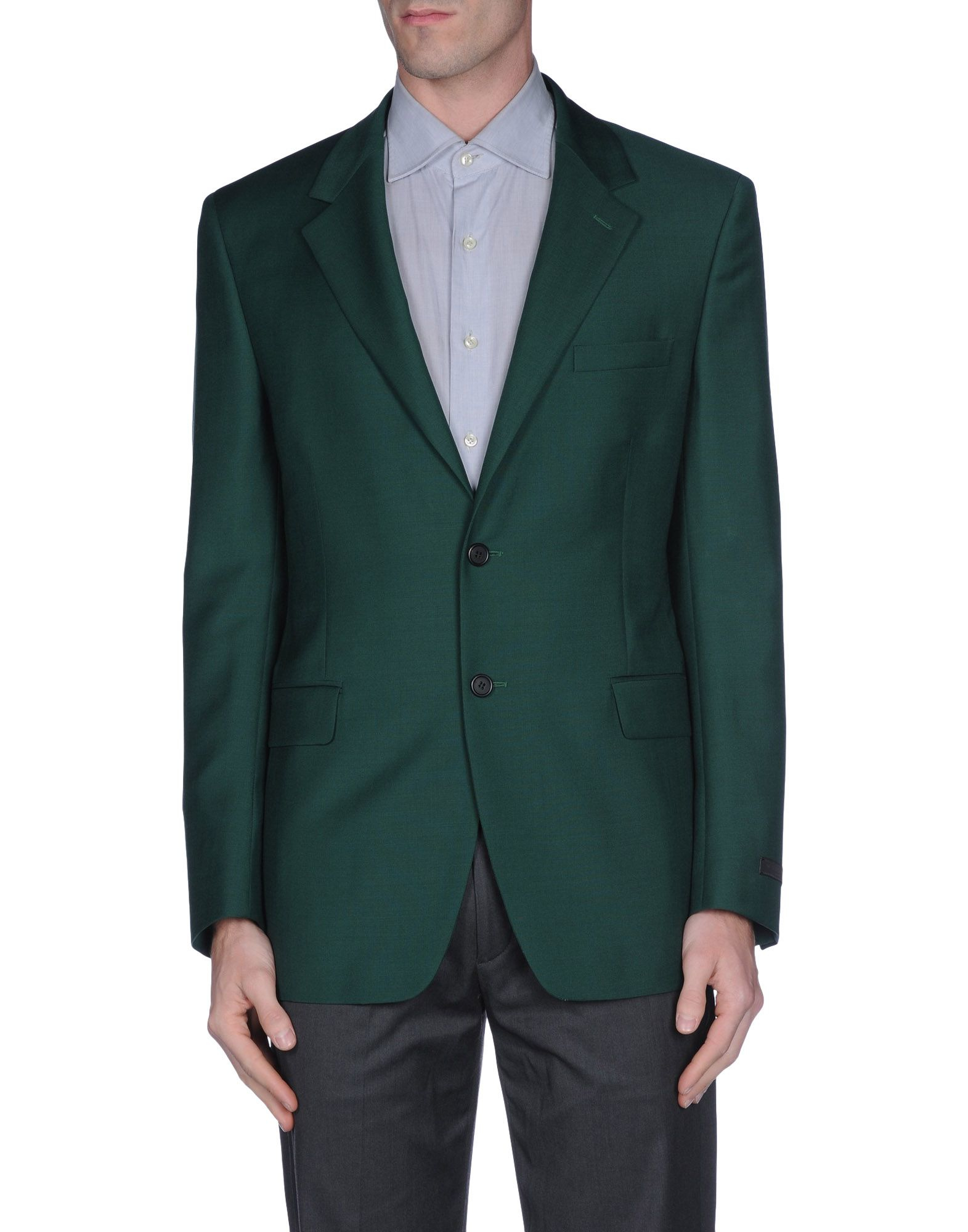 Prada blazer in green for men lyst Emerald green mens dress shirt