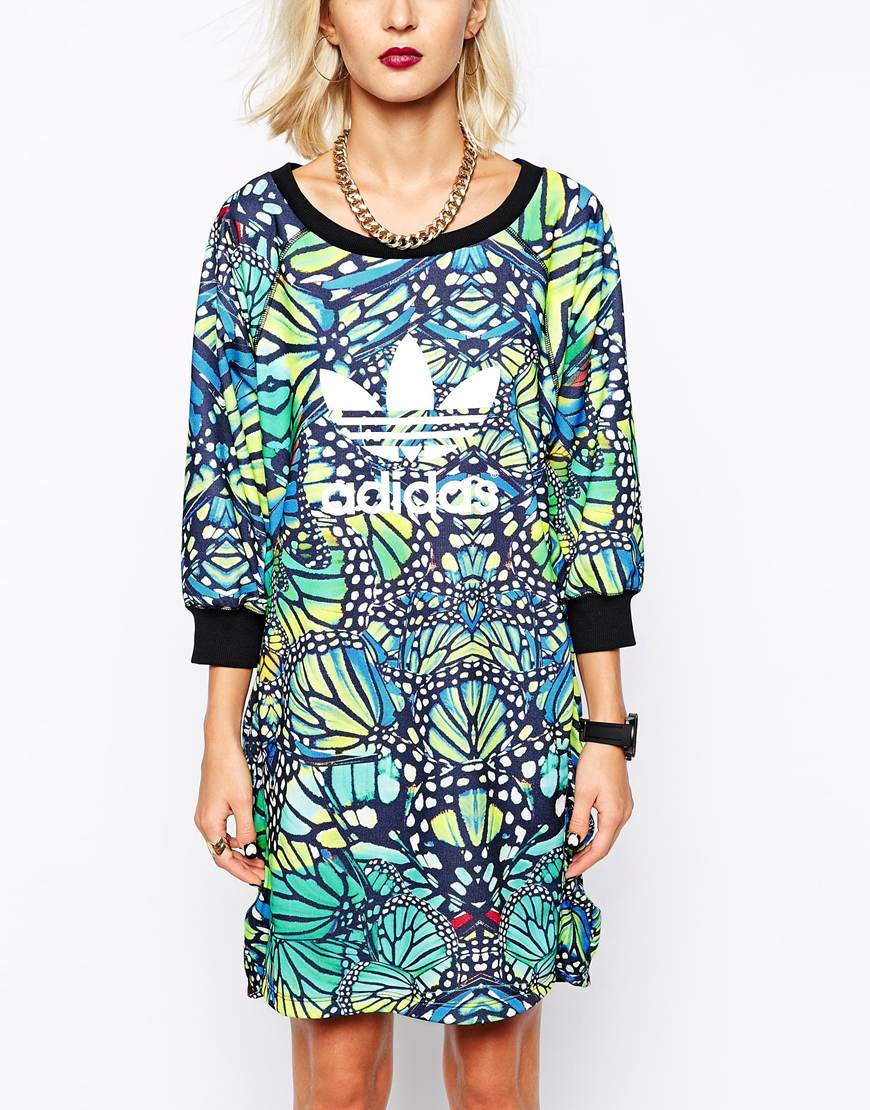Lyst Adidas Originals Butterfly Dress