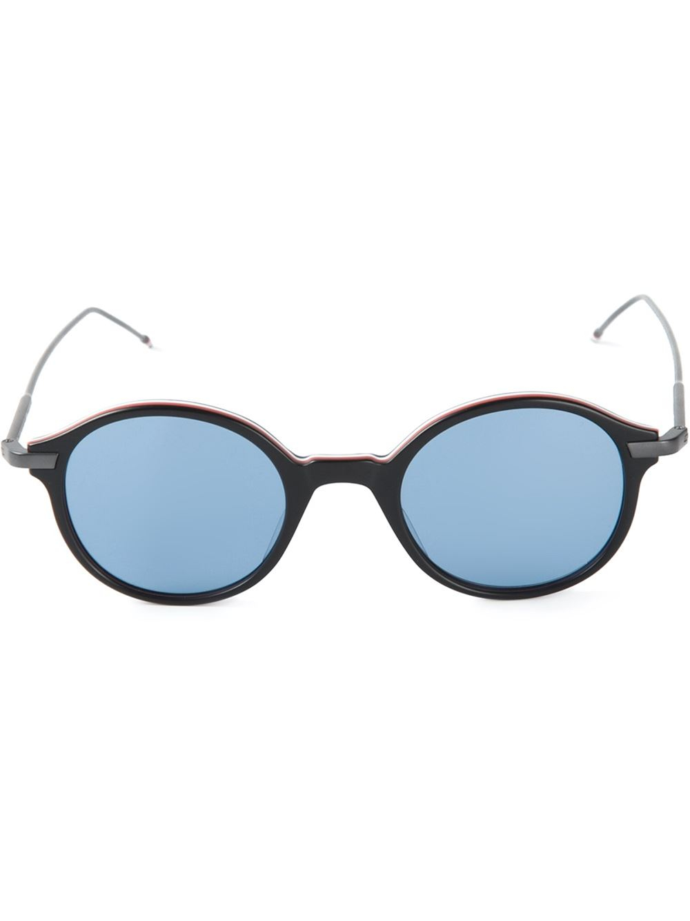 Round Gold Frame Sunglasses By Thom Browne : Thom Browne Black Round Frame Sunglasses Lyst