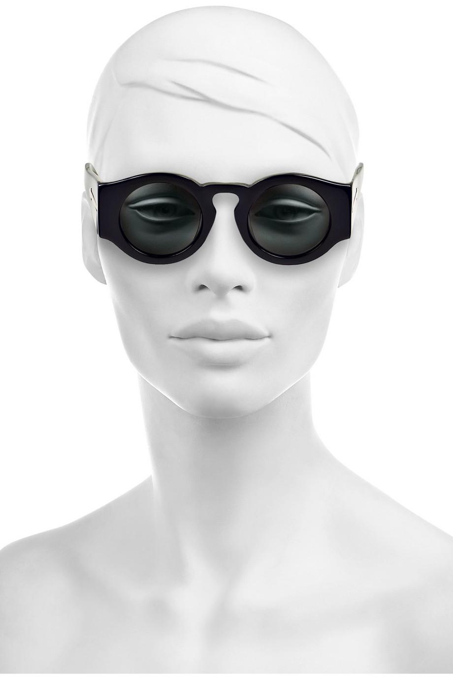 Lyst - Karen Walker Blue Moon Round-Frame Acetate Sunglasses in Black