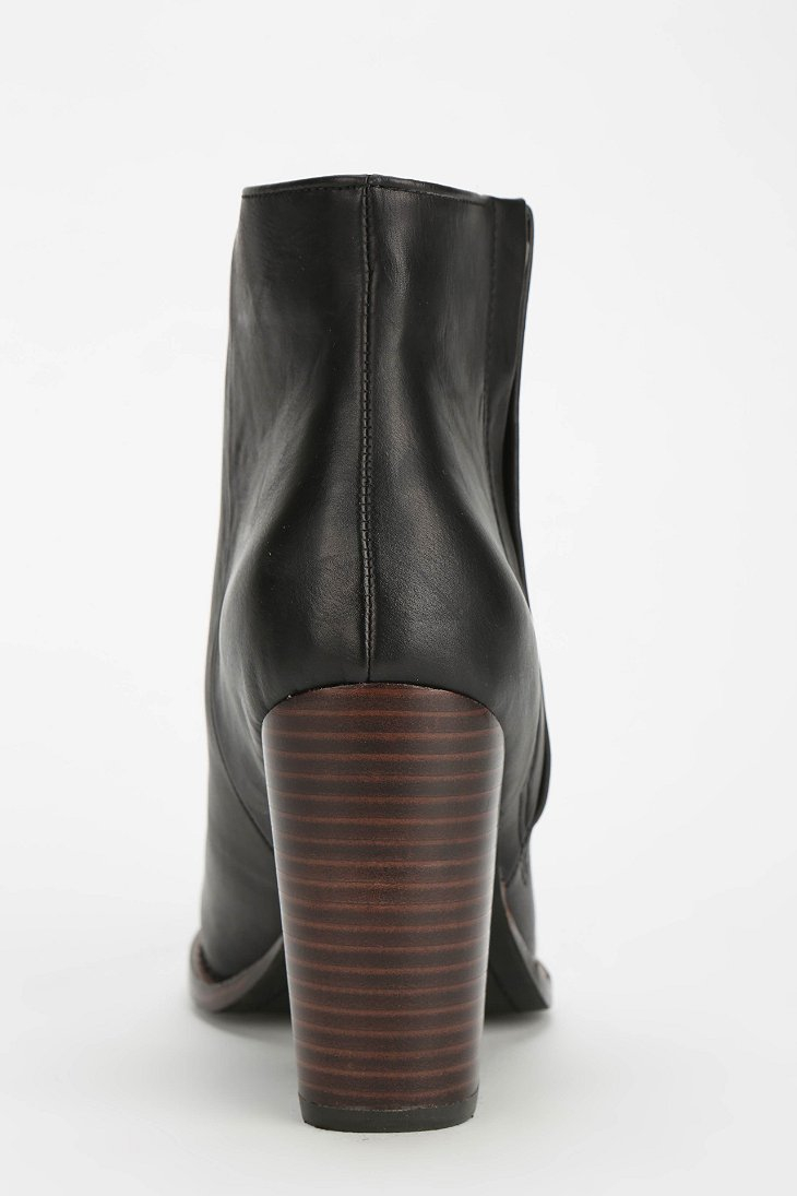 573b4b72cf Silence noise Half-Stacked Heeled Ankle Boot in Black