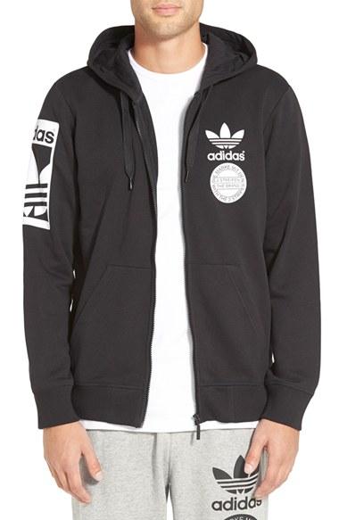 Lyst adidas Originals' Street 'graphic Full Zip Hoodie en negro
