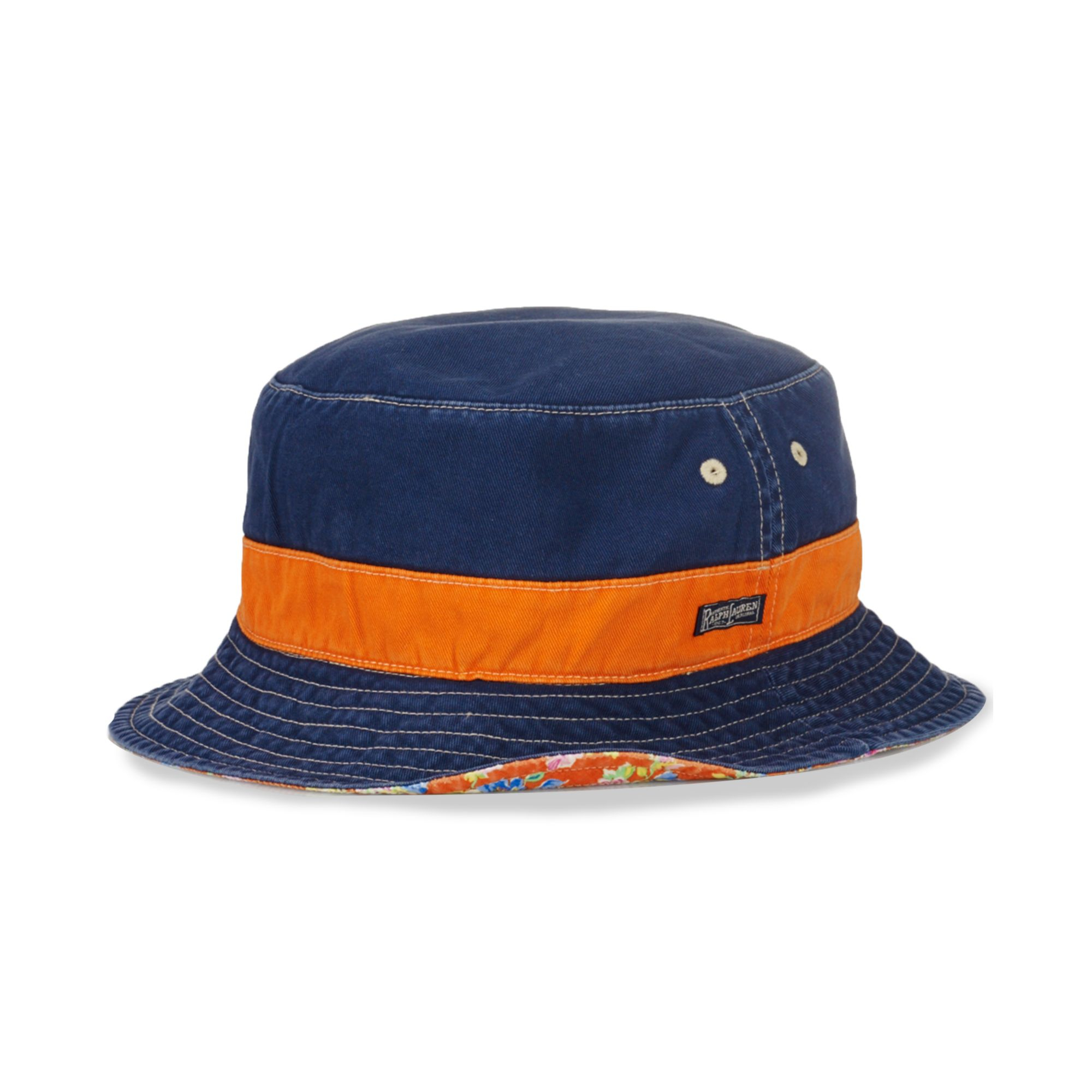 9f6c2404adf Lyst - Ralph Lauren Polo Big and Tall Reversible Bucket Hat in Blue ...