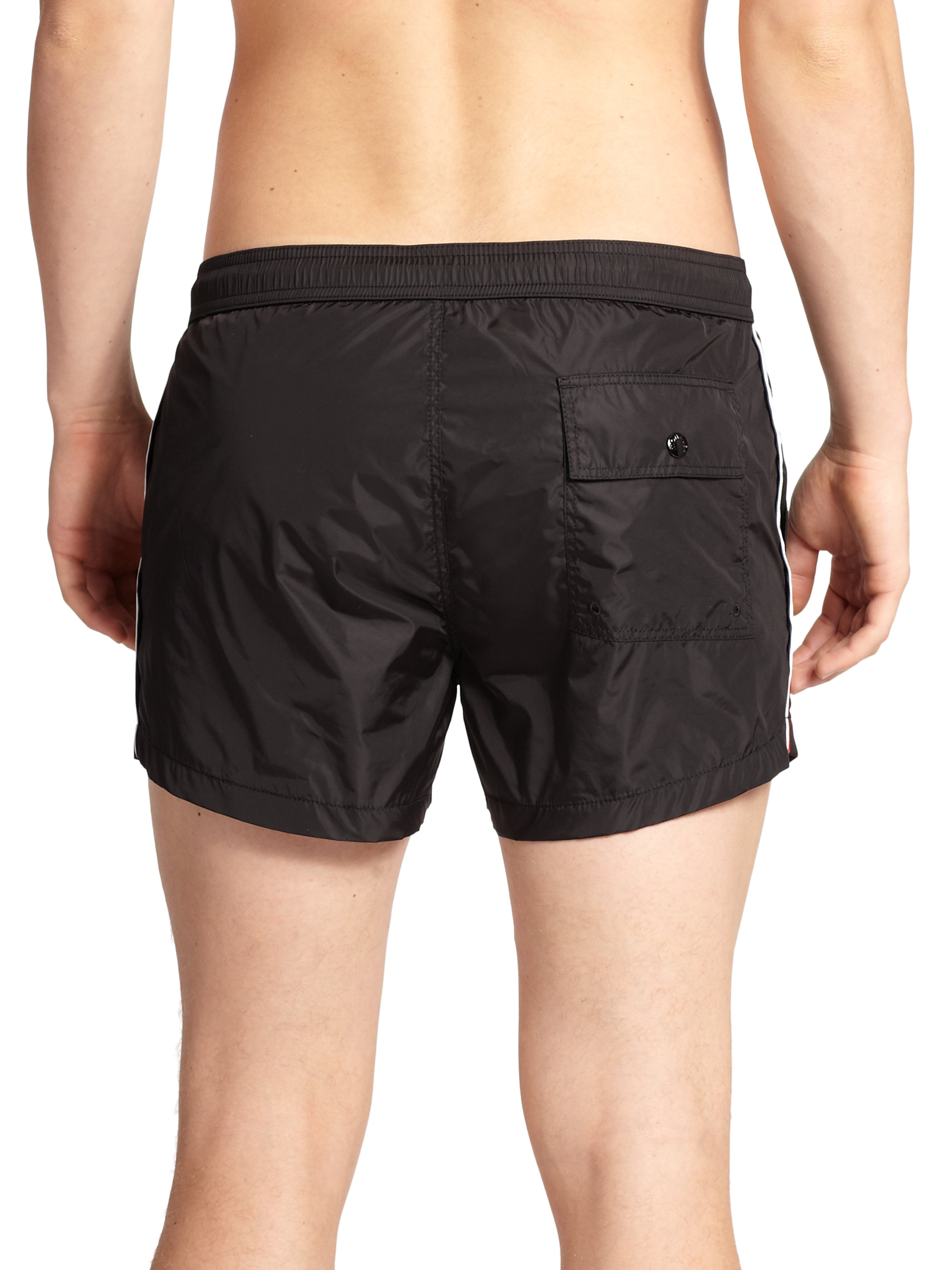 moncler black swim shorts