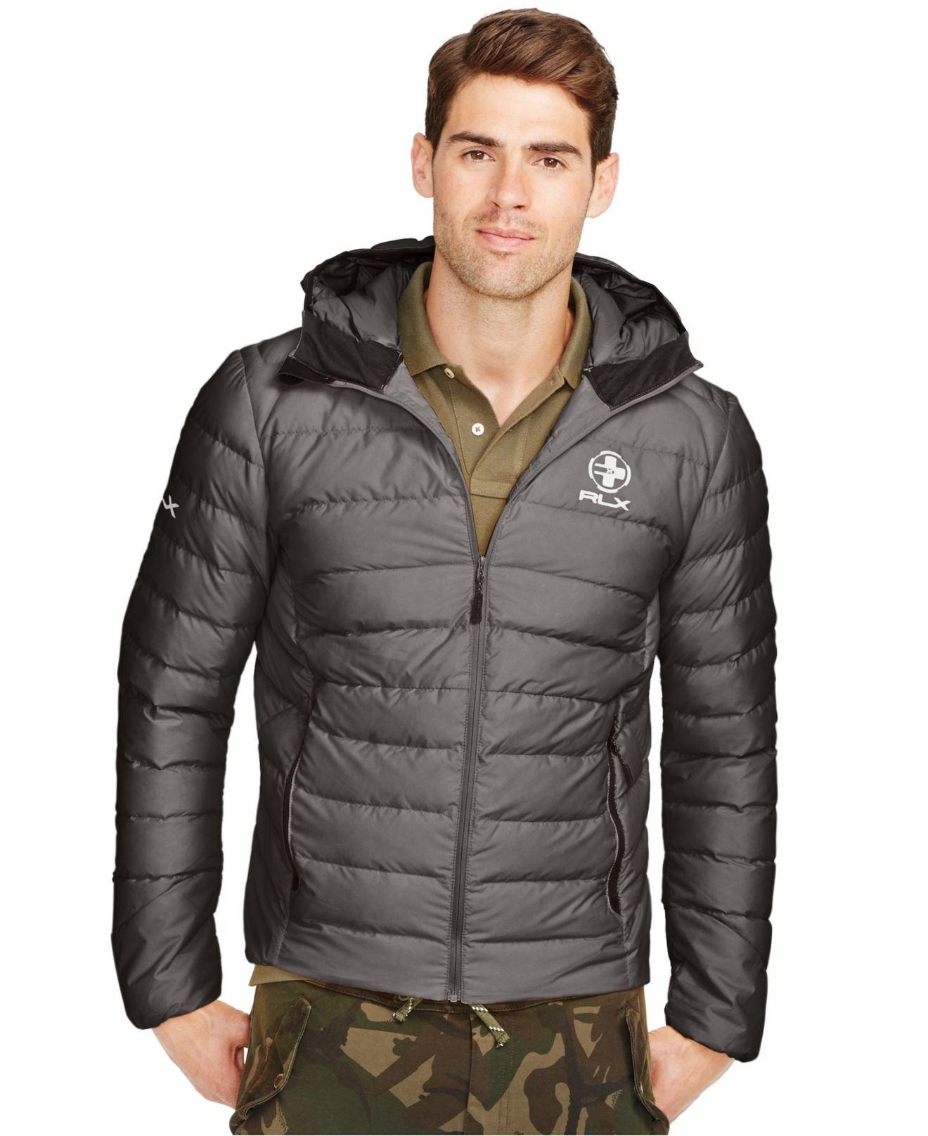 63cecb90 Polo Ralph Lauren Rlx Explorer Down Jacket in Gray for Men - Lyst