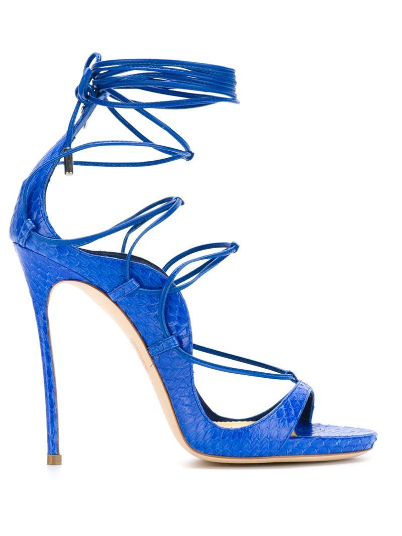 f68d3e0f402da Lyst - Dsquared² Strappy Sandals in Blue
