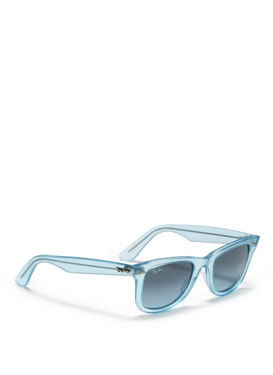 f0c9c9f248bb1 12345 266b4 a6338  best price lyst ray ban original wayfarer ice pop  sunglasses in white 7f31c ce095