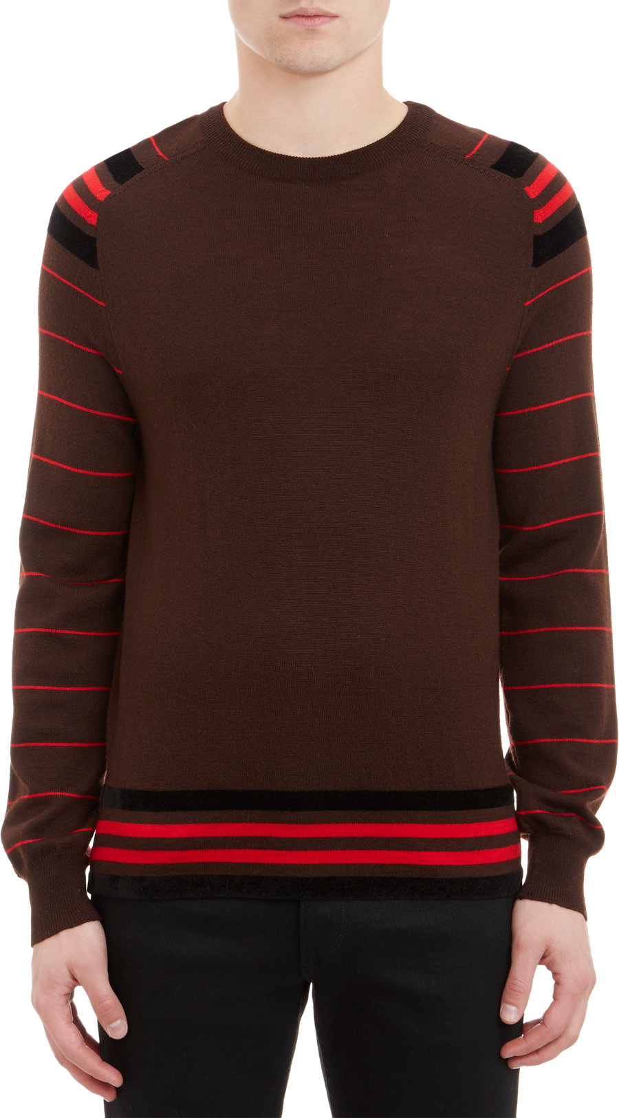 givenchy stripe pullover sweater in red for men lyst. Black Bedroom Furniture Sets. Home Design Ideas