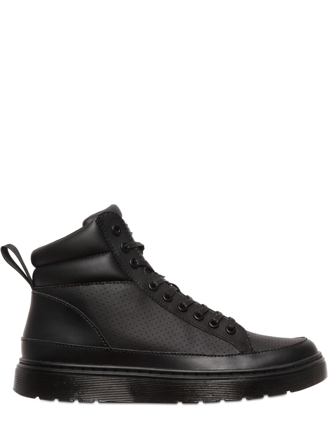 Dr. Martens Black Leather High-Top Sneakers UVlPSaqhx