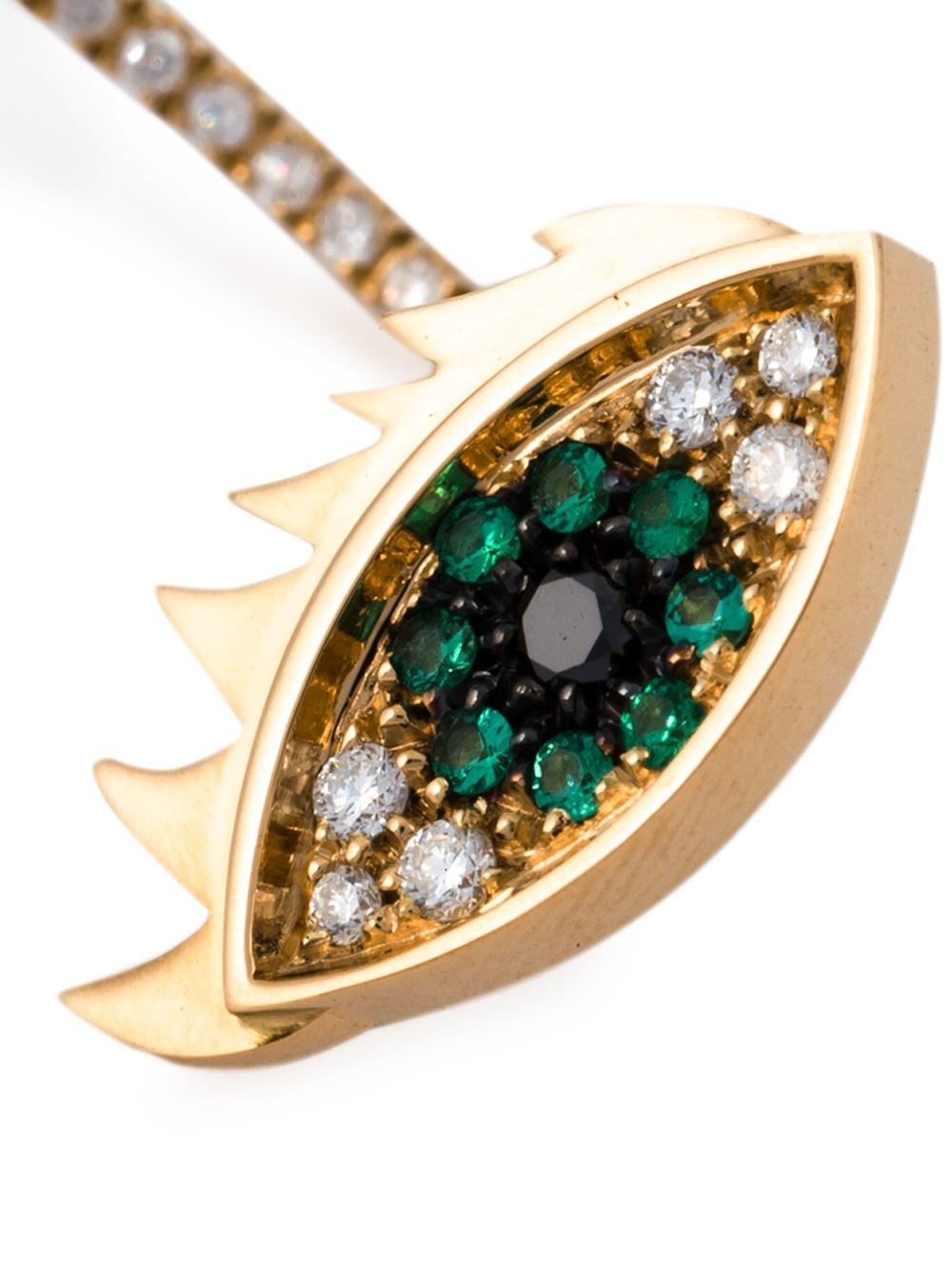 Eyes on me piercing emerald and diamond earring - Metallic Delfina Delettrez rMANhILwK
