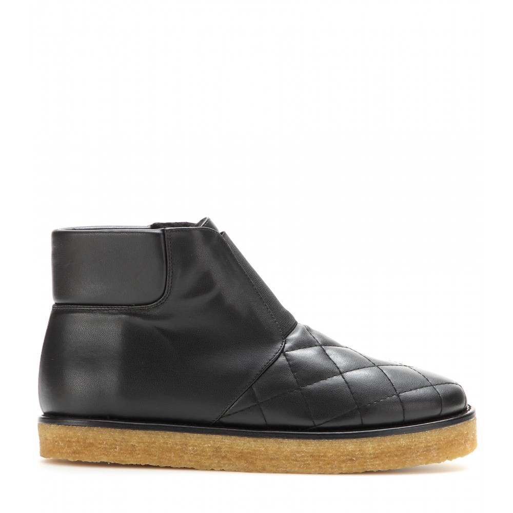 stella mccartney faux leather ankle boots in black lyst