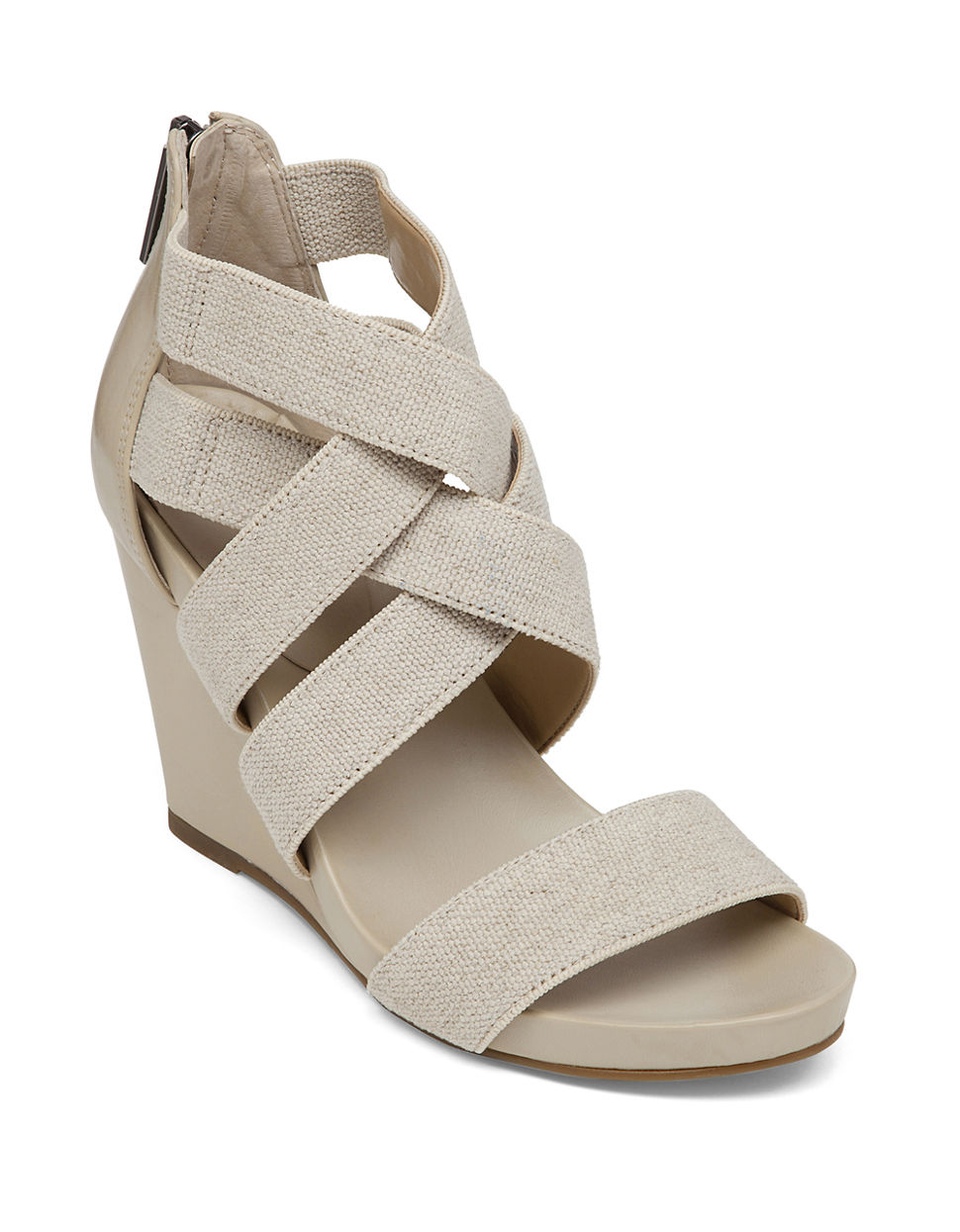 Lyst Bcbgeneration Bruce Elastic Open Toe Wedge Sandals