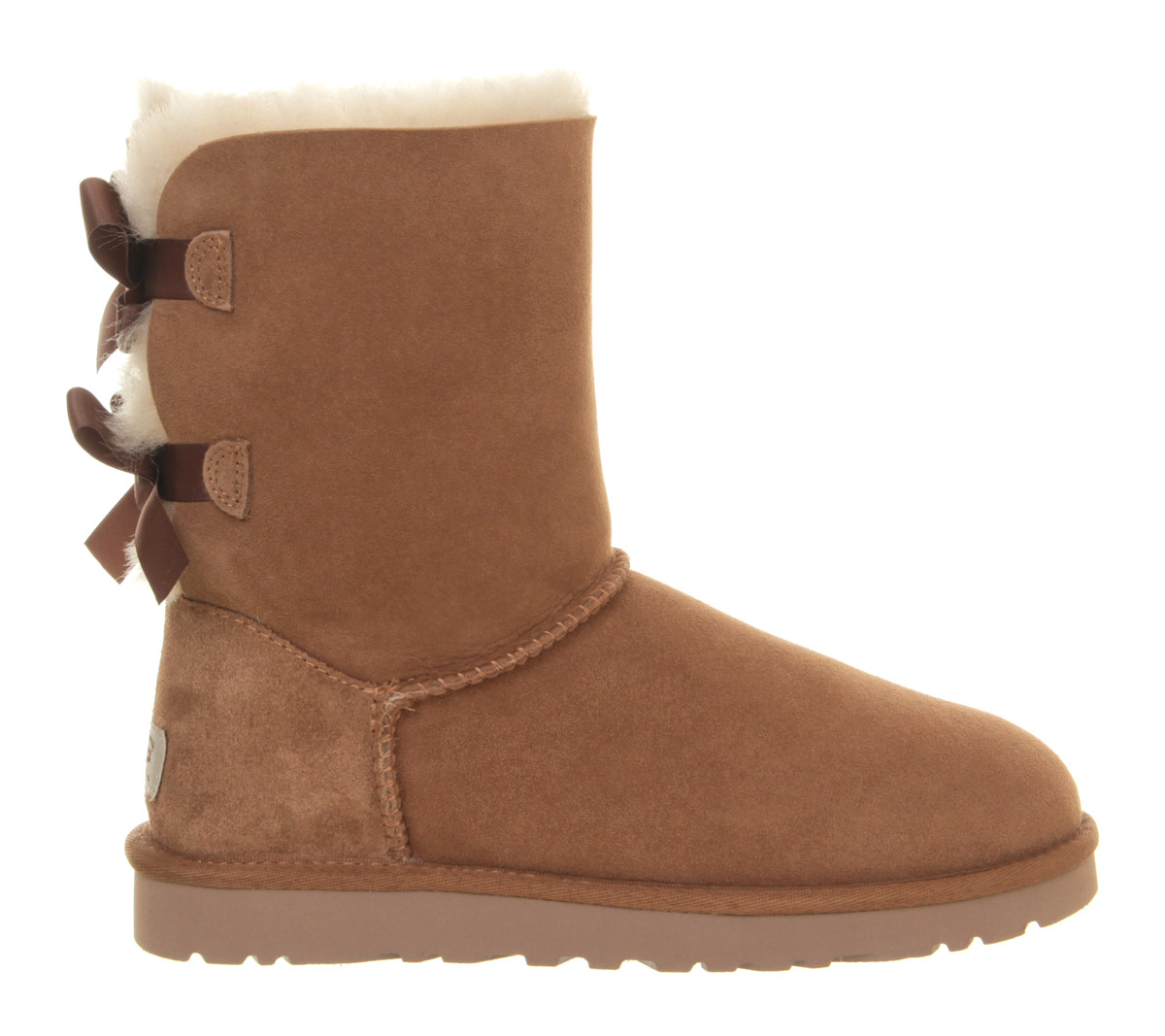 ugg bailey bow calf boots in brown chestnut lyst