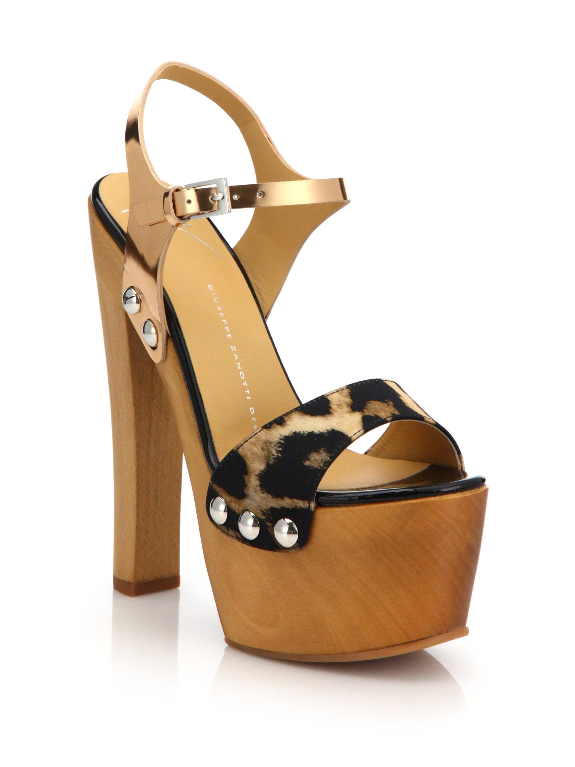 Giuseppe Zanotti Wooden Clog Platform Sandals Lyst