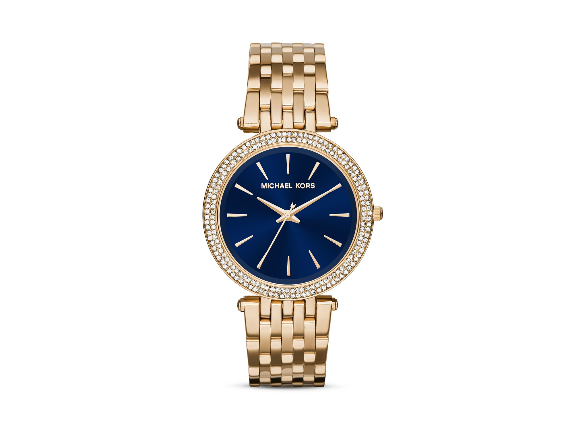 a2754d1d3b9 Michael Kors Darci Pave Encrusted Watch, 39mm in Blue - Lyst
