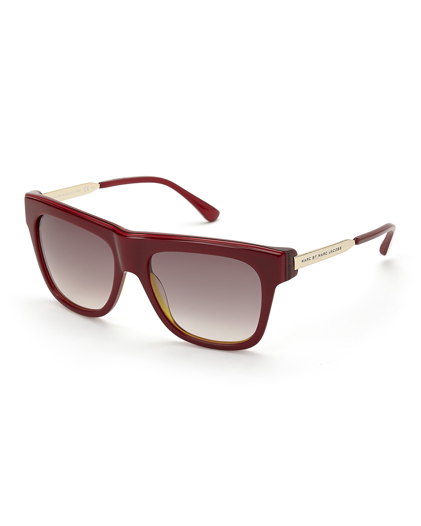 Marc Jacobs Red Sunglasses  marc by marc jacobs red 293 s wayfarer sunglasses in purple lyst