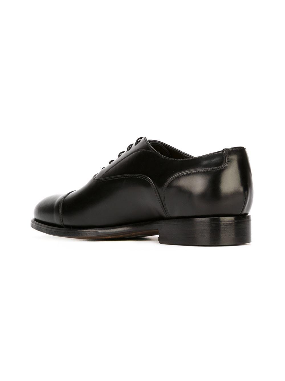 canali classic oxford shoes in black for lyst