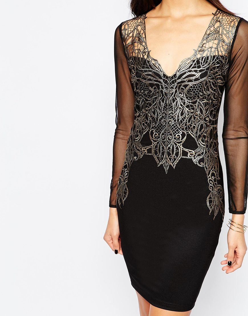 Lyst Lipsy Michelle Keegan Loves Lace Applique Front