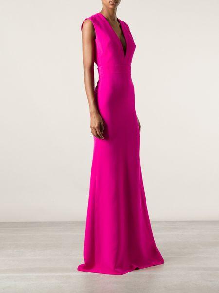 Victoria Beckham Evening Dress In Purple Pink Amp Purple