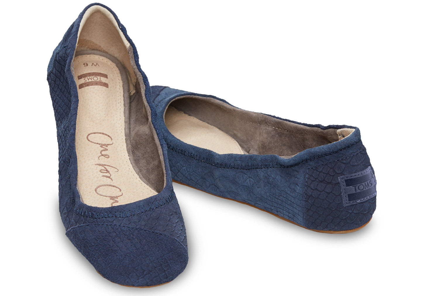 Lyst - TOMS Blue Suede Snake Women s Ballet Flat in Blue 0ab9947be