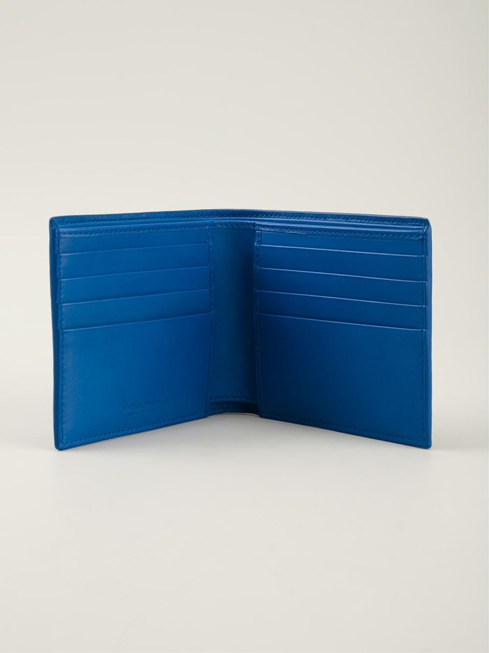 Lyst Bottega Veneta Intrecciato Wallet In Blue
