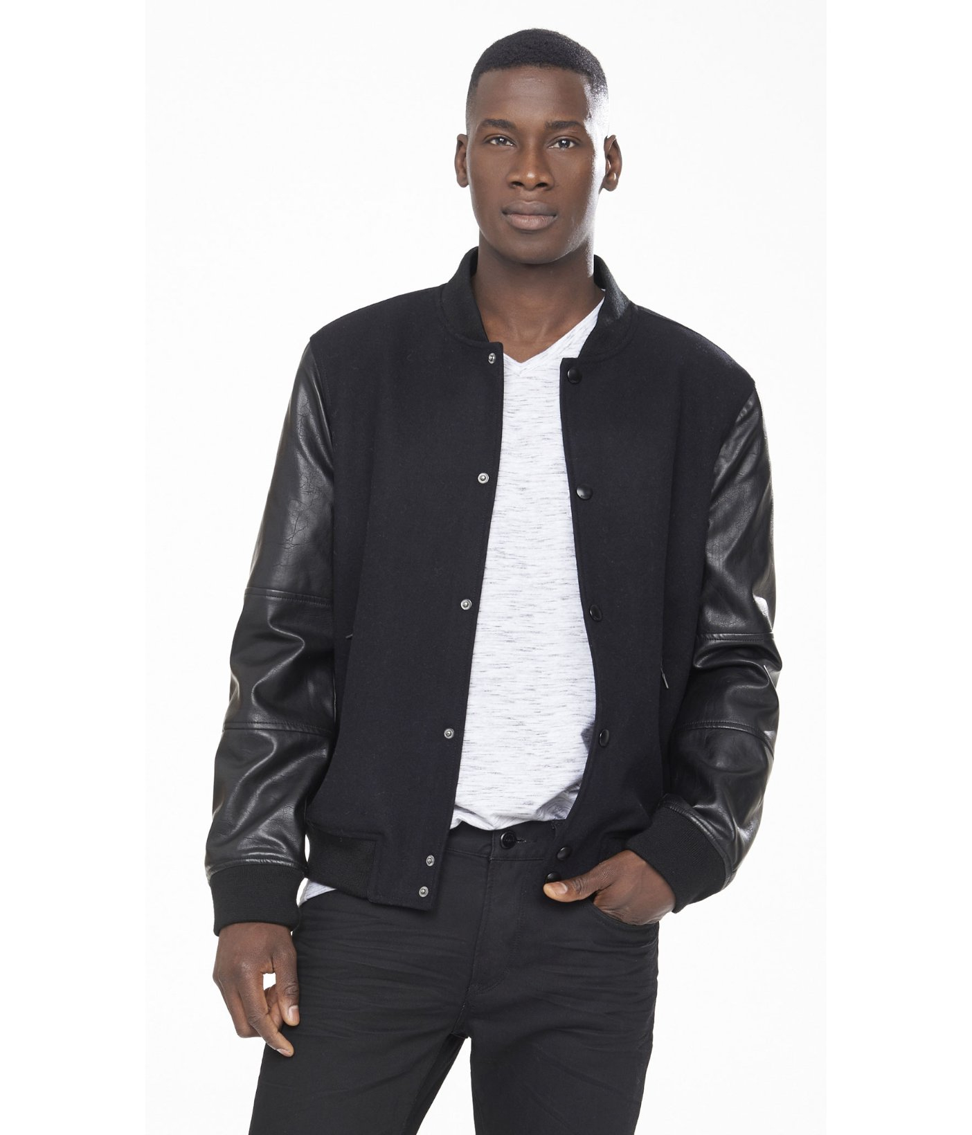 Baseball Leather Jacket - Jacket