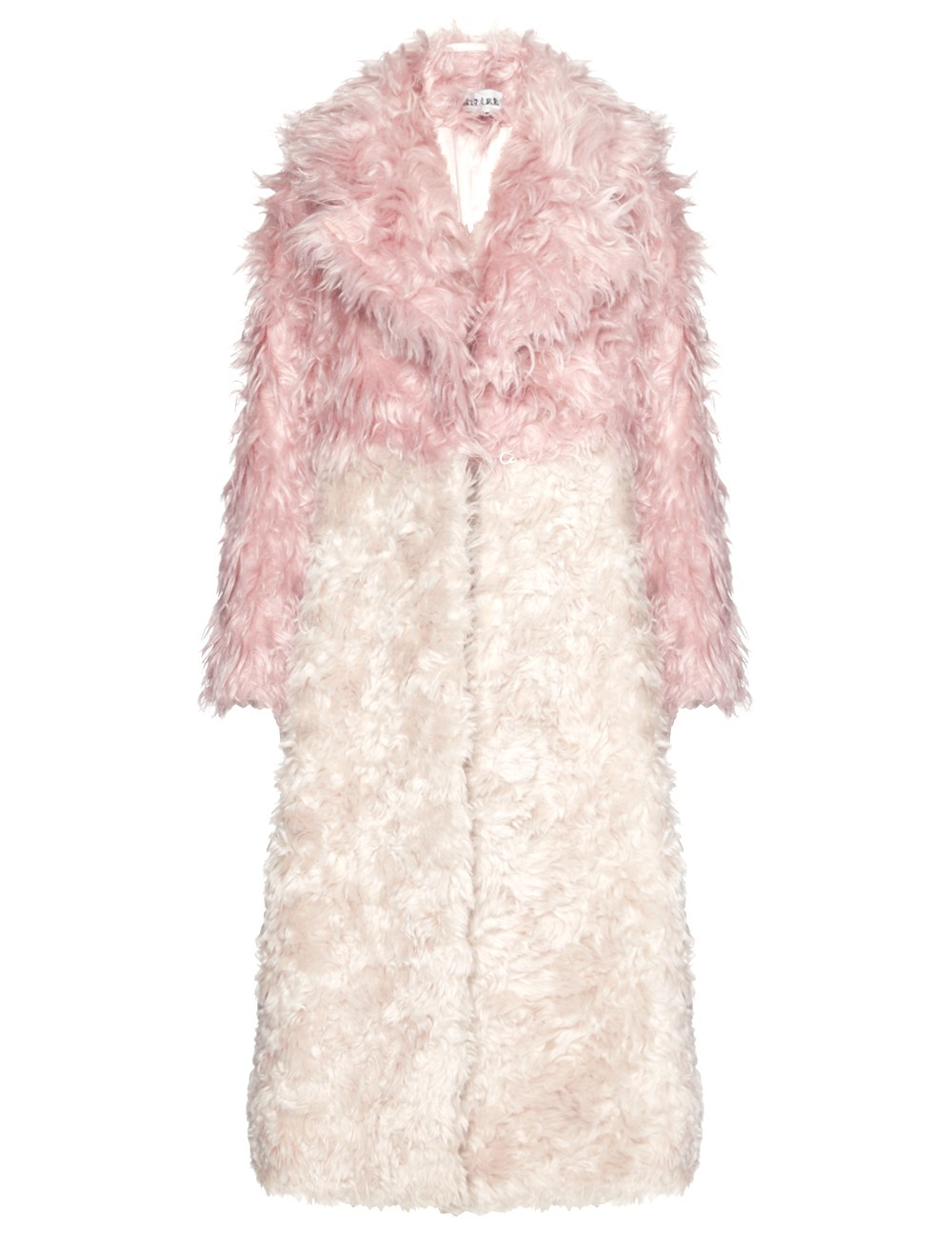 Awake Candy Pink Mohair Coat in White | Lyst