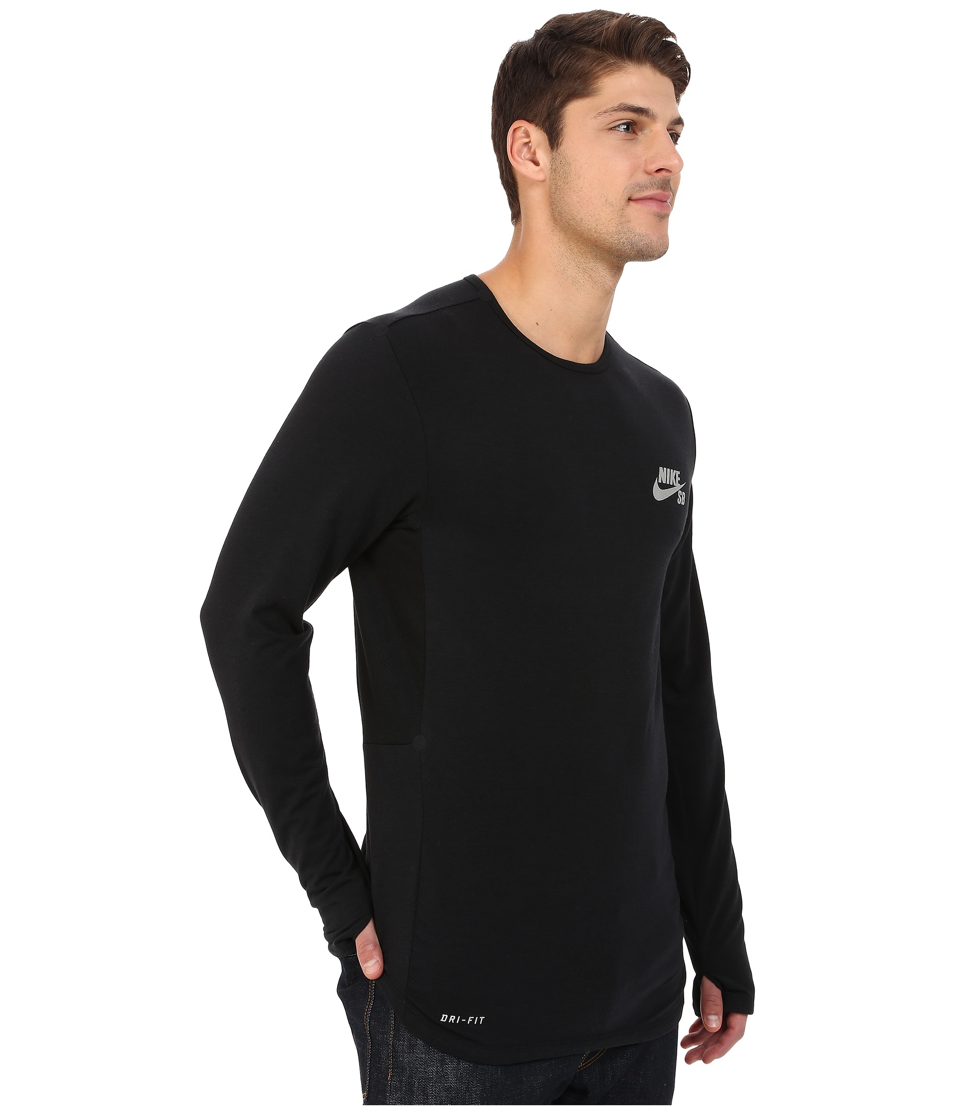 68396f382f80 Lyst - Nike Sb Skyline Dri-fit™ Cool Long Sleeve Crew in Black for Men