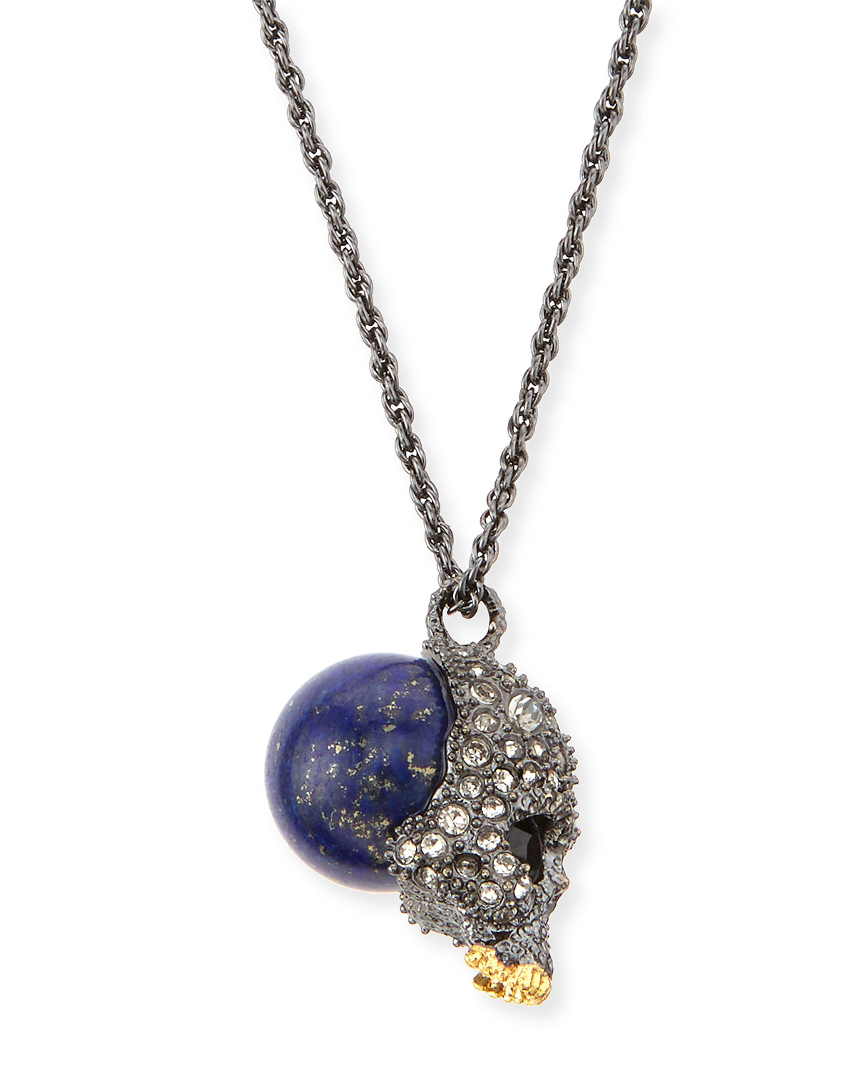 Lyst alexis bittar elements crystal skull pendant necklace in gallery aloadofball Choice Image