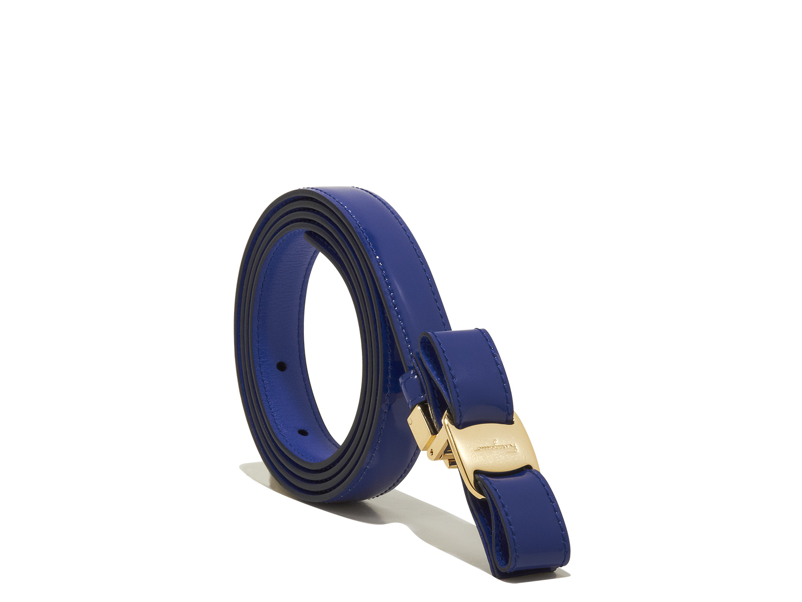 Ferragamo Vara Bow Belt in Blue (Bright Blue) - Lyst