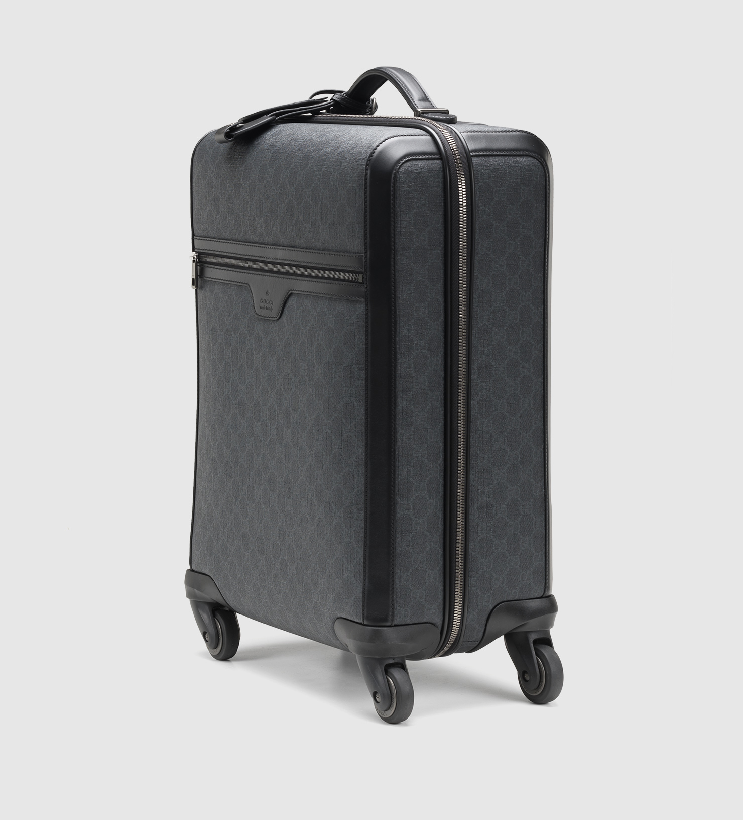 19aacc184e4c Lyst - Gucci Gg Supreme Canvas Wheeled Carry-on Suitcase in Black for Men