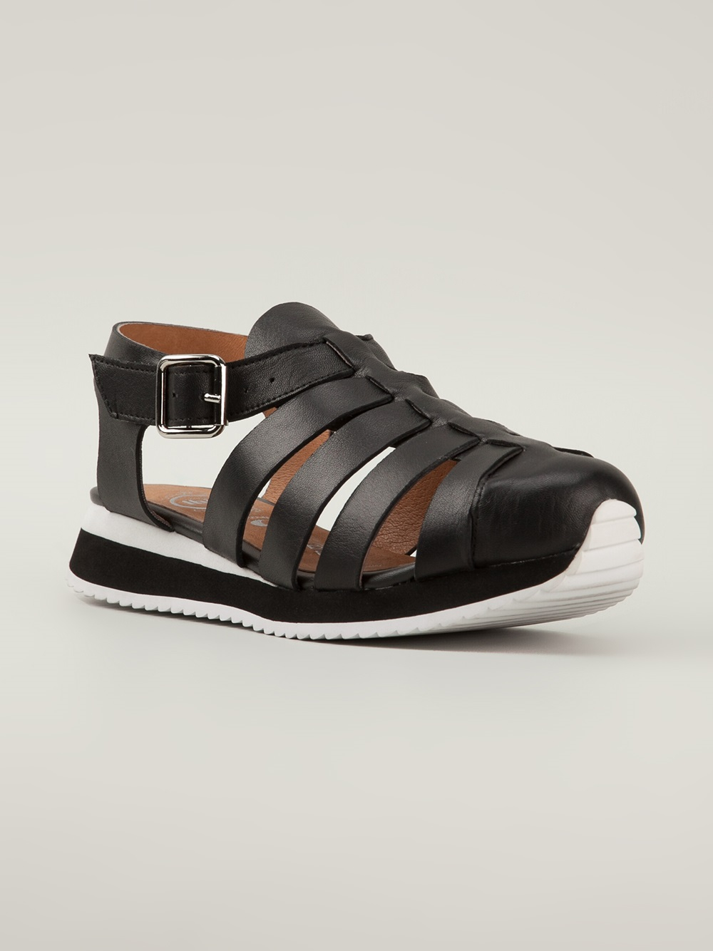 Lyst Jeffrey Campbell Boulet Sneakerstyle Sandals In Black