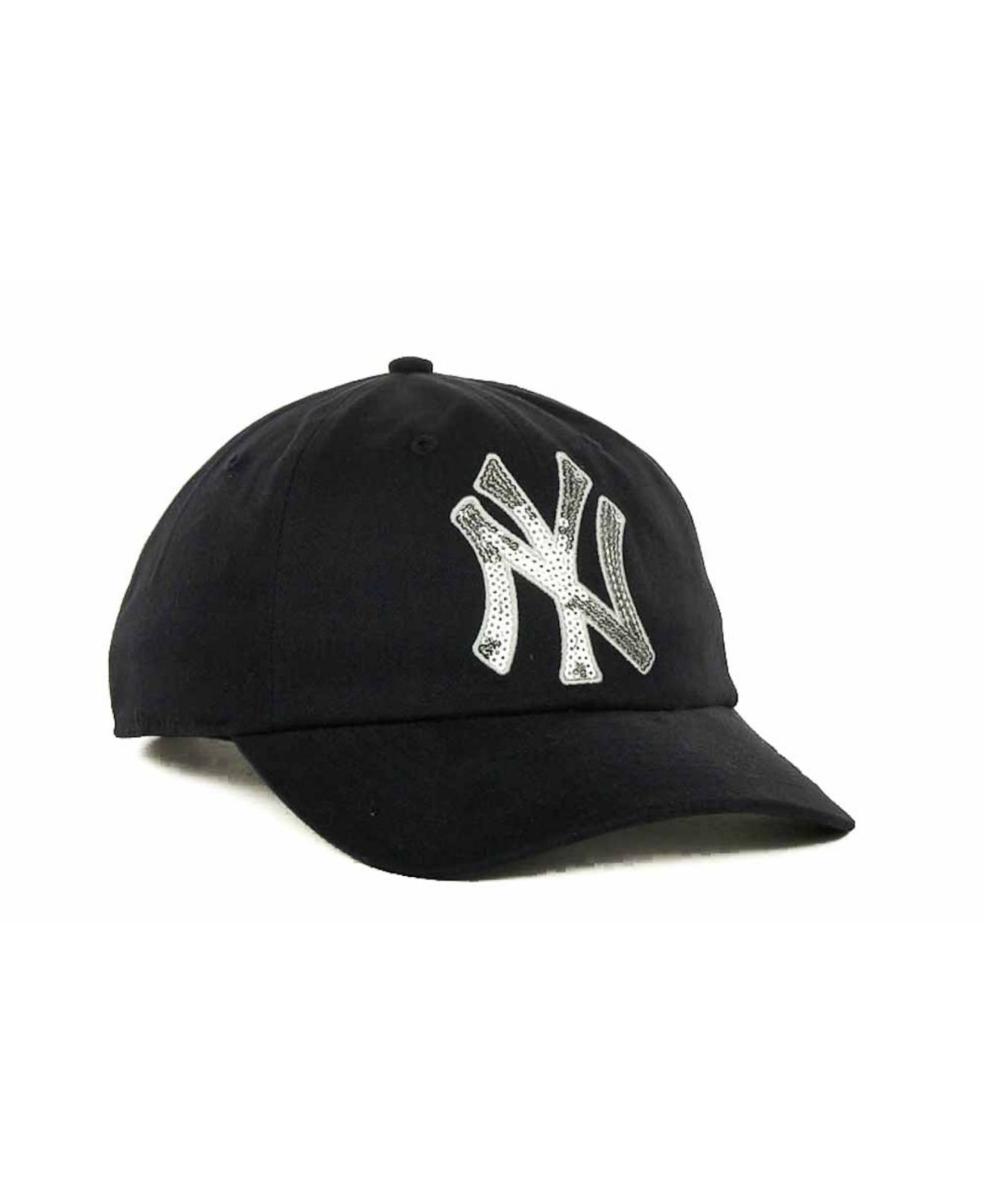 451cdc91768 ... hat ef7bf 8e5a7  ireland lyst 47 brand womens new york yankees sparkle  cap in blue 0d6eb 551ee