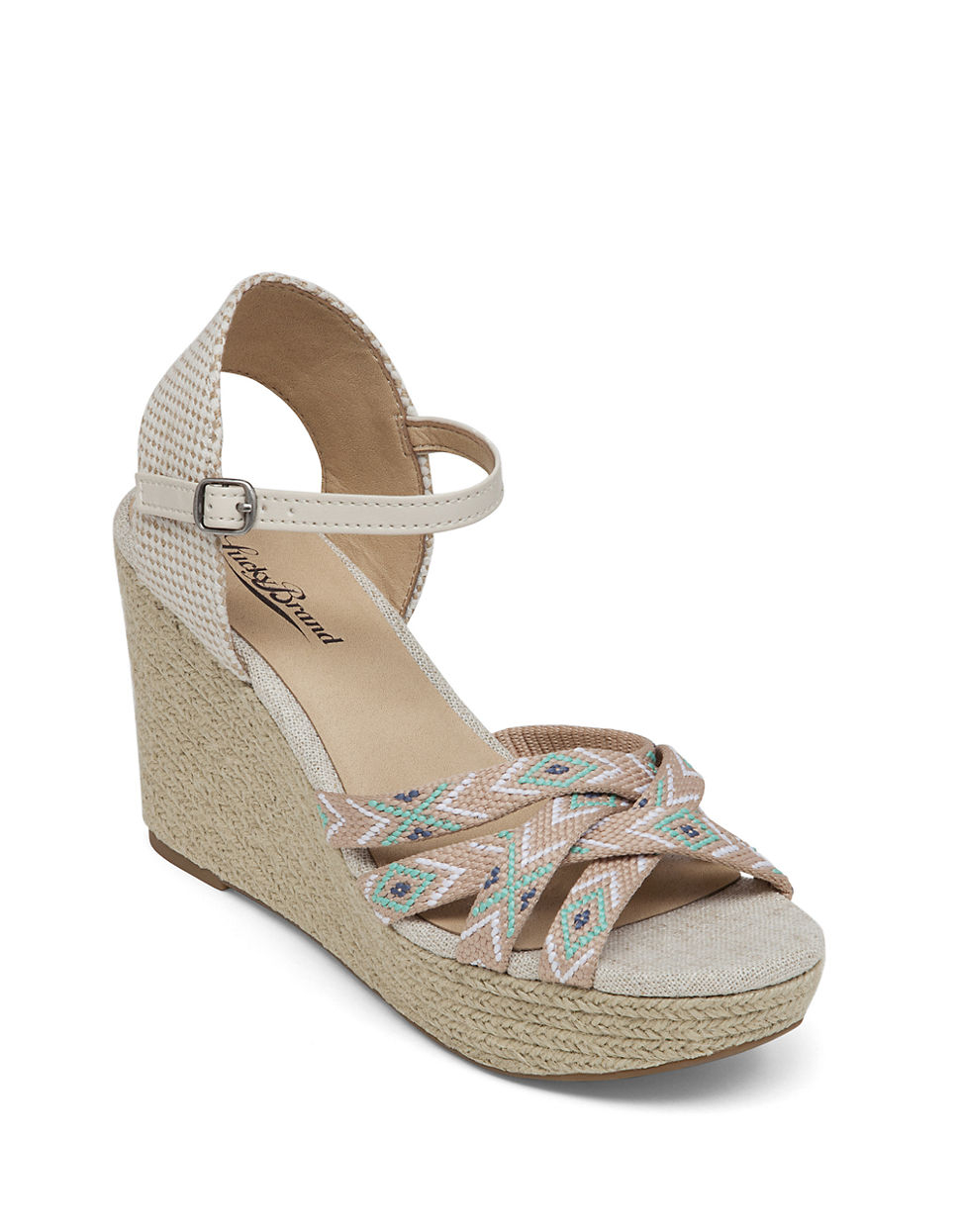 lucky brand mahima wedge sandals in lyst