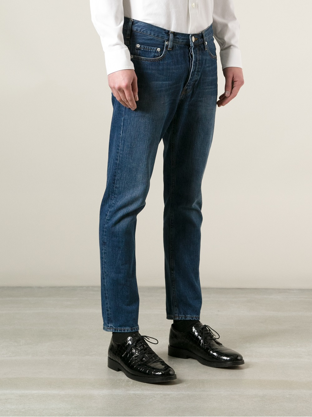 lyst acne studios town vintage tapered jeans in blue for men. Black Bedroom Furniture Sets. Home Design Ideas
