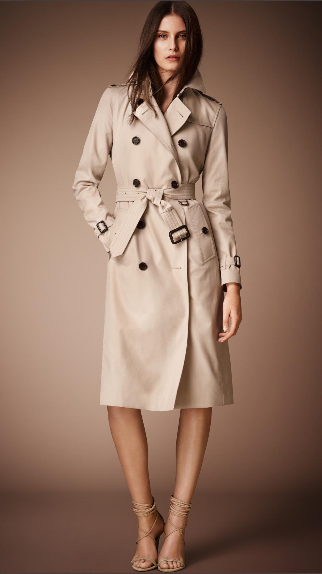 Lyst - Burberry The Kensington - Long Heritage Trench Coat in Natural b17ce4068a1