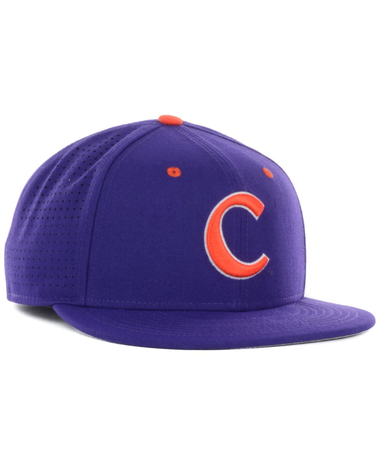 newest 6f098 bab6a ... discount lyst nike clemson tigers authentic vapor fitted cap in purple  for men 7bcba e7179 ...