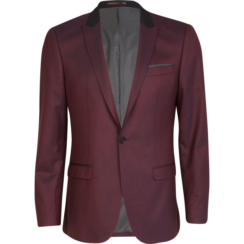 River Island Grey Contrast Suit