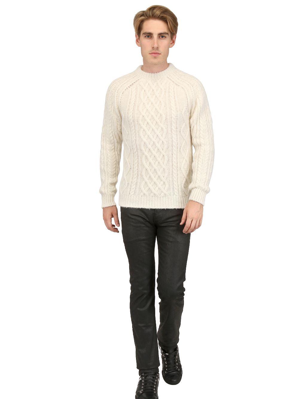 dior homme 19cm secular waxed stretch denim jeans in black for men lyst. Black Bedroom Furniture Sets. Home Design Ideas