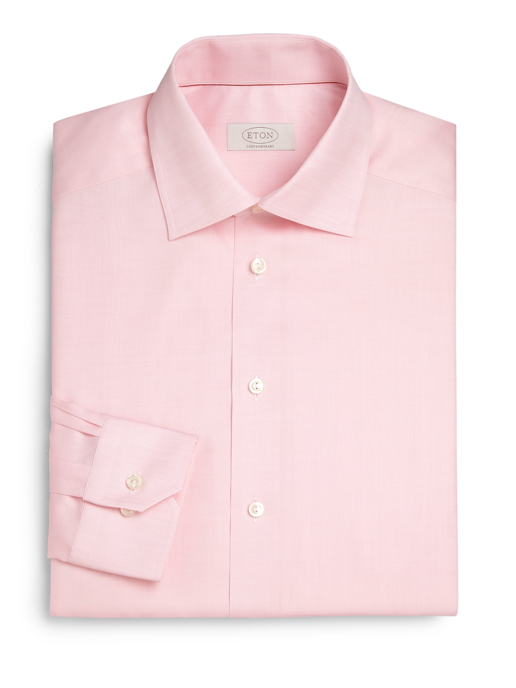 Eton Of Sweden Contemporary Fit Herringbone Dress Shirt In