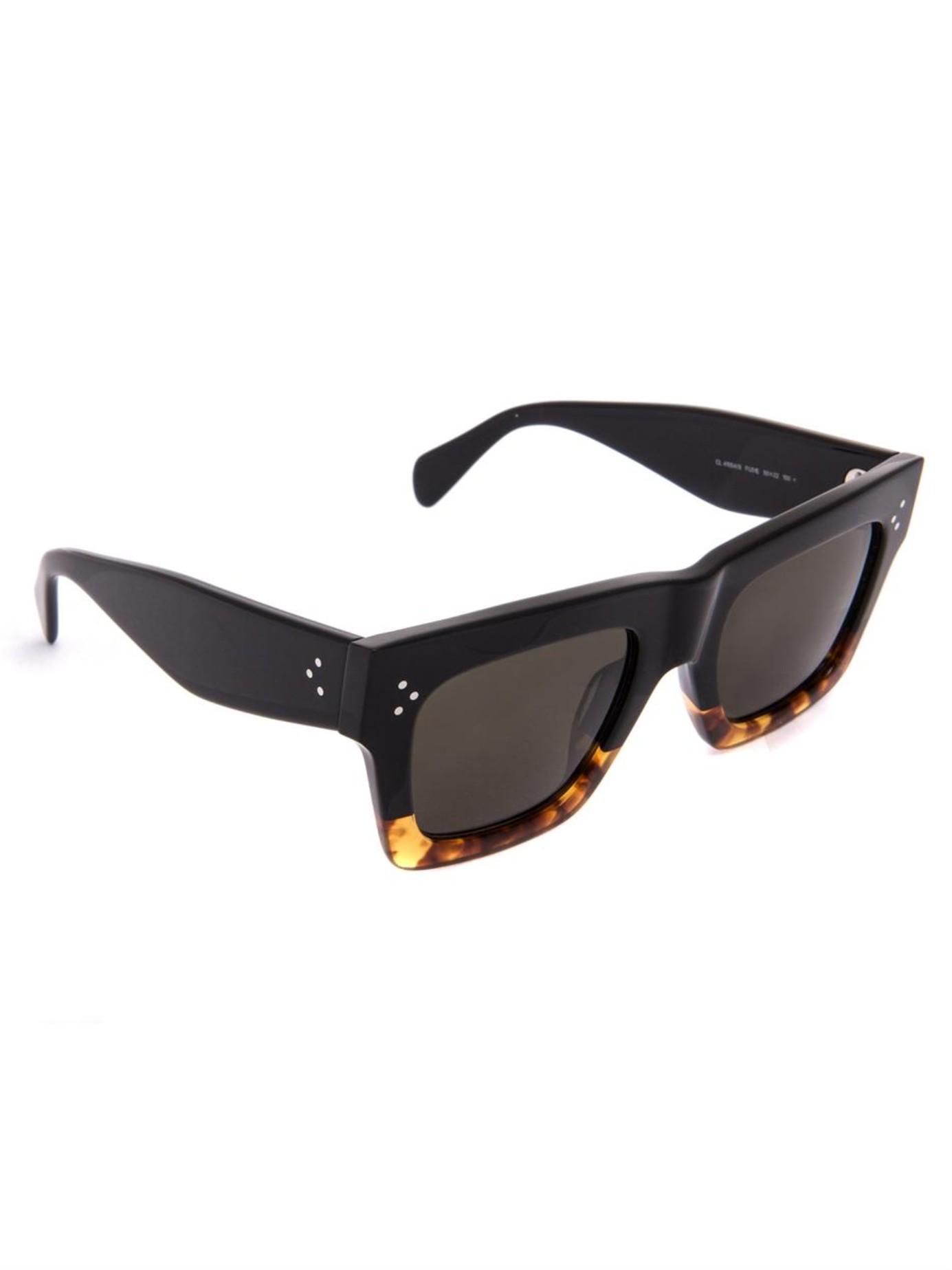 7e854175217 Lyst - Céline Square-Framed Acetate Sunglasses in Black