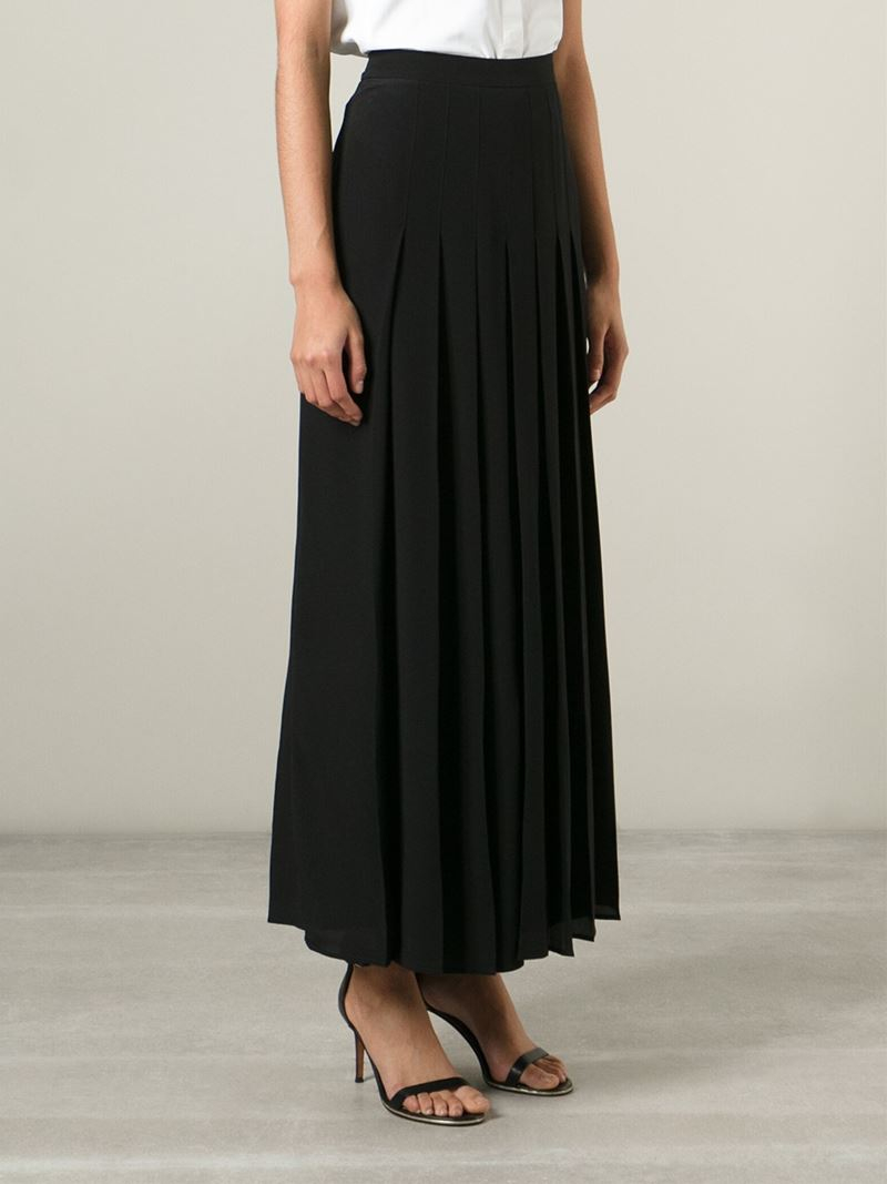 long pleated dress - Black Seen GqAR2acgvO