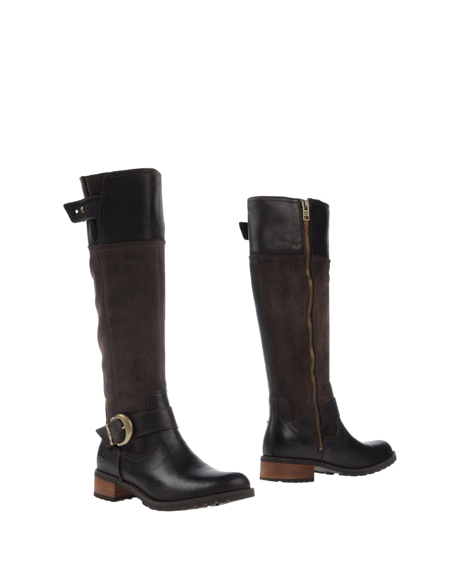 timberland leather and suede knee high boots in brown lyst