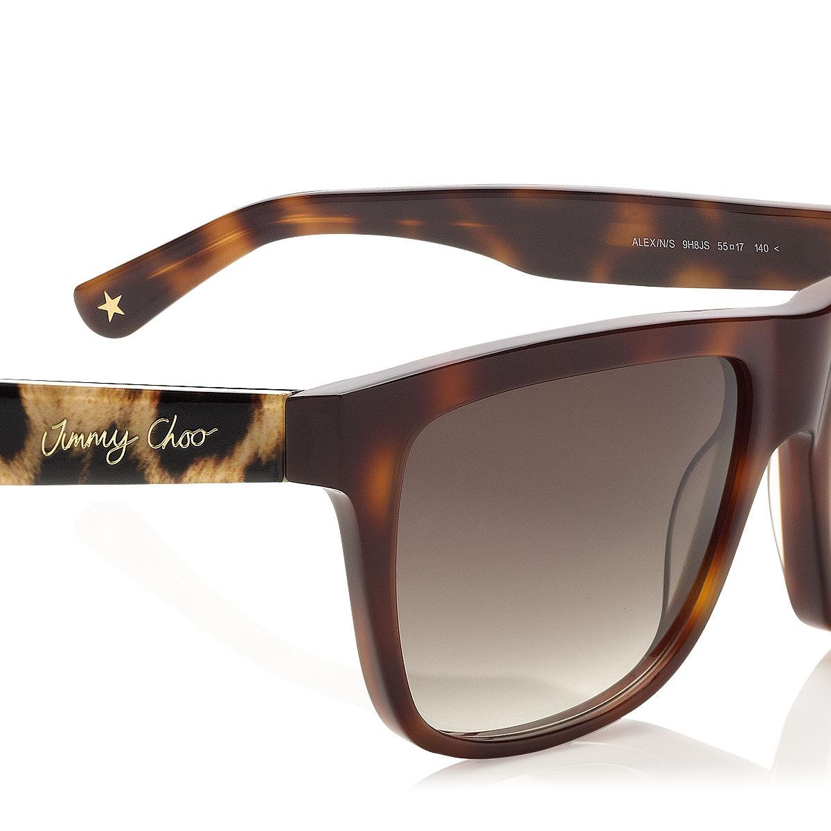a323d101718 Jimmy Choo Estelle Lace-pattern Cat-eye Sunglasses in Brown - Lyst