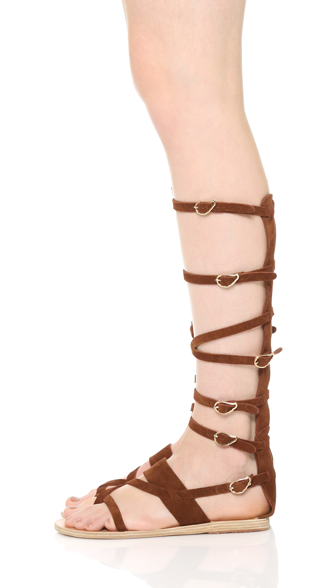 Lyst Ancient Greek Sandals Alethea High Gladiator
