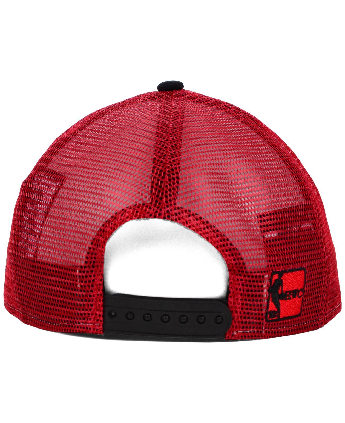 online store 205d6 a2608 ... sale lyst ktz chicago bulls basic trucker 9fifty snapback cap in black  dfa6c 13d51