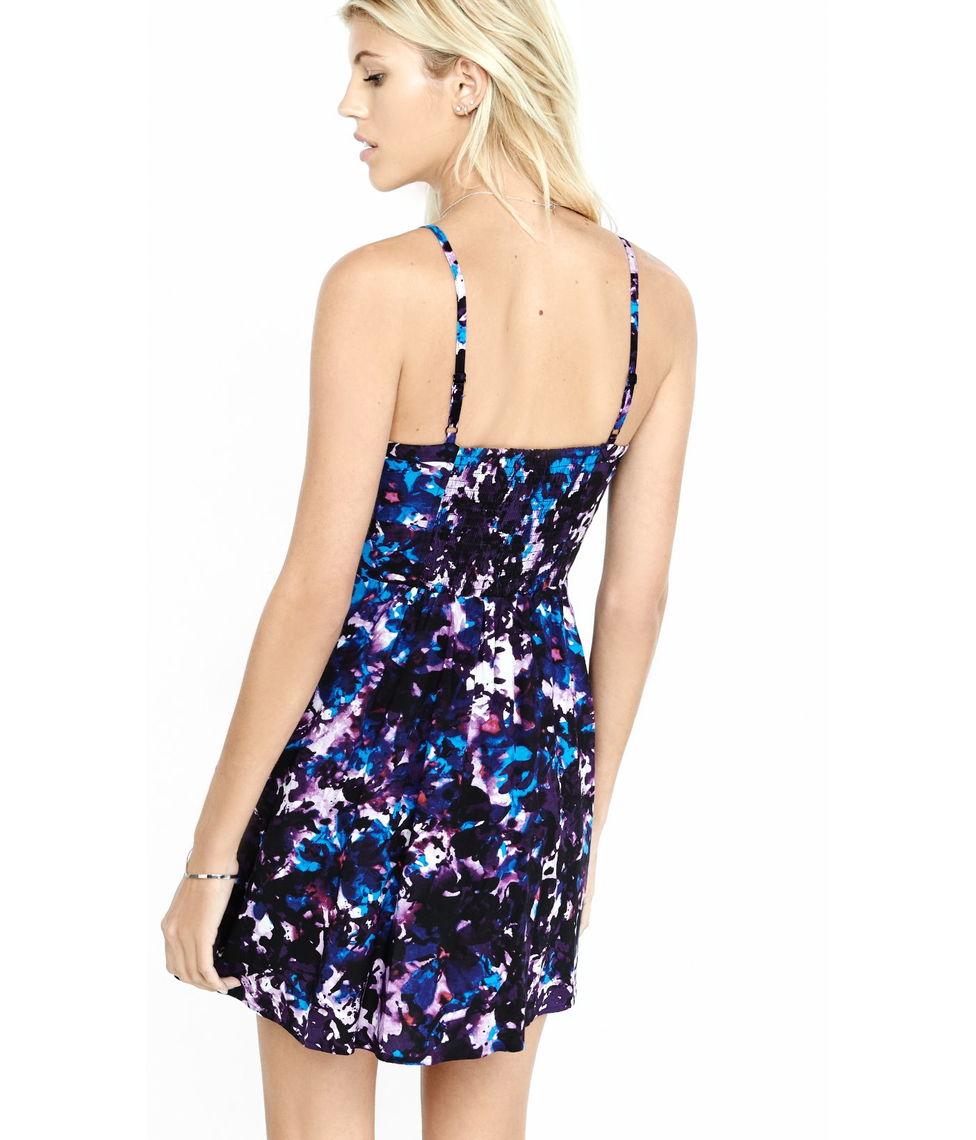 838c49824c Express Sweetheart Neckline Cami Sundress in Blue - Lyst