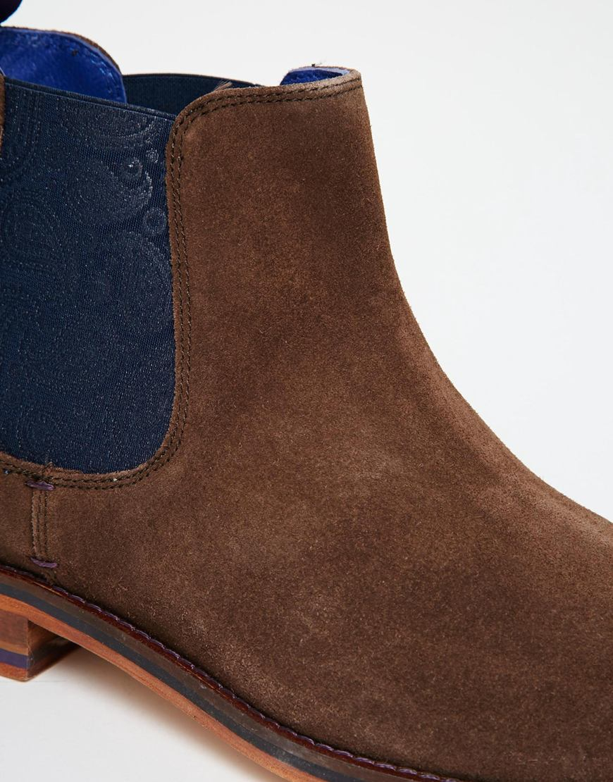 a77ef8233 Lyst - Ted Baker Camroon Suede Chelsea Boots in Brown for Men