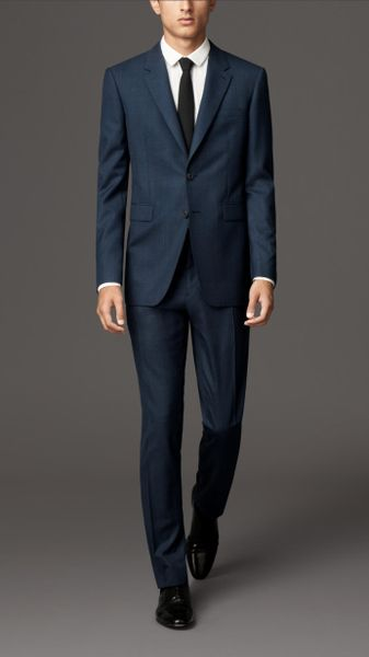 Burberry Classic Fit Virgin Wool Suit in Blue for Men (navy) - Lyst