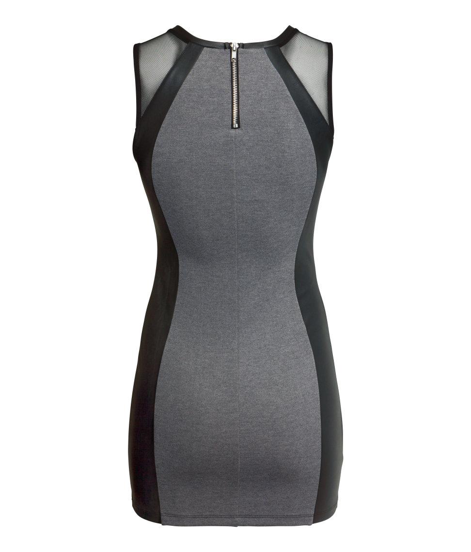 4f4eb937e19a H&M Short Dress in Gray - Lyst